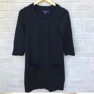 Boden black sweater dress